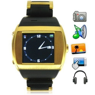 Quad Band Mobile Phone Video Watch with 1.5 Inch Screen and Camera